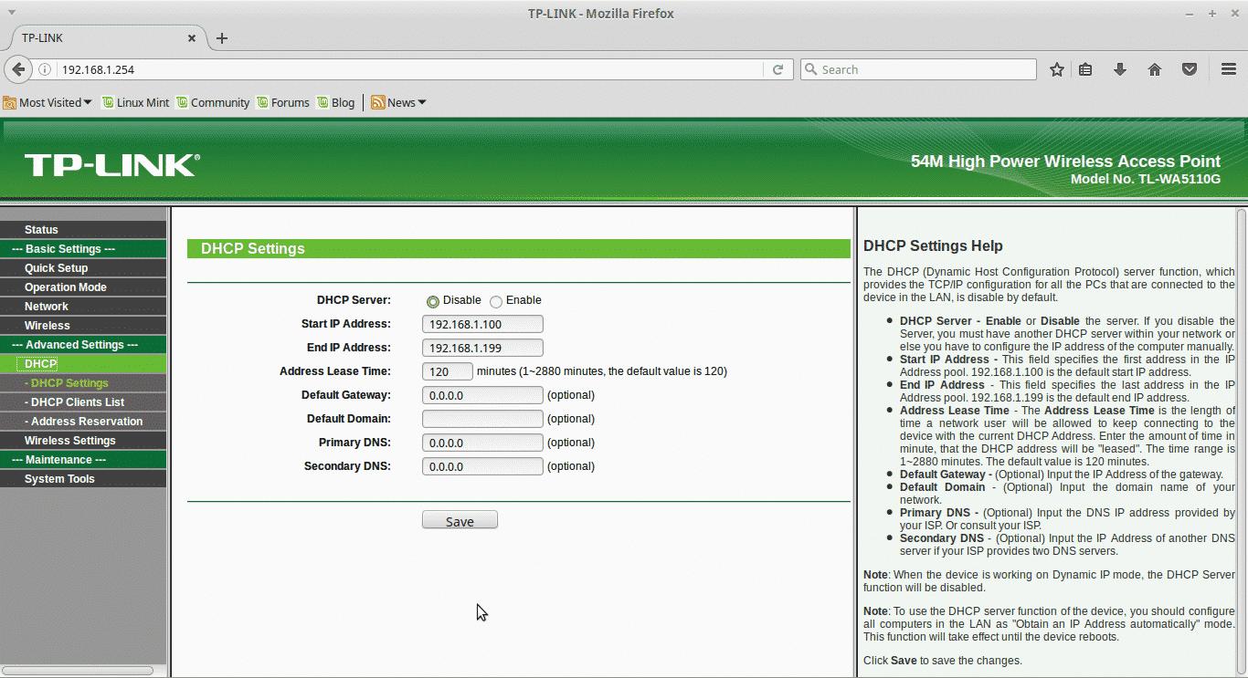 Klik-menu-DHCP-selanjutnya-pergi-ke-opsi-DHCP-Setting