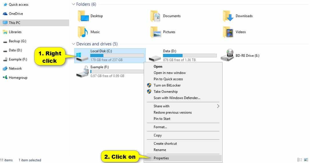 Langkah-pertama-yaitu-dengan-membuka-Windows-Explorer-lalu-klik-kanan-pada-drive-yang-ingin-Anda-check.-Selanjutnya-klik-opsi-Properties